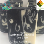 Vegan Activated Charcoal Tea Tree Face & Body Soap