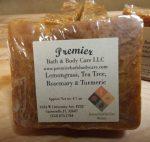 Handmade All Natural Acne Soap – Lemongrass, Tea Tree, Rosemary, Turmeric Essential Oil – Face Soap, Body Soap, Shampoo, Vegan Soap