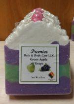 Vegan Green Apple Grape Soap  Artisan Soap   Moisturizing Soap   Bar Soap   Piped High Top Bar Soap