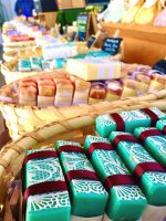 Selling soap at the Farmer's Market
