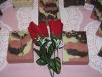 Chocolate Rose Camo soap