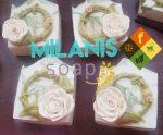 White Rose Wreath Soap